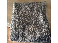 Leopard Print Scarf With Diamanté's (Brand New)