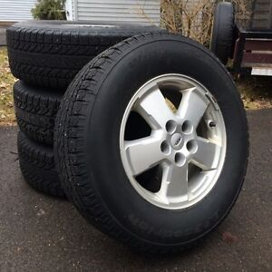 Aluminum Wheels with Winter Tires