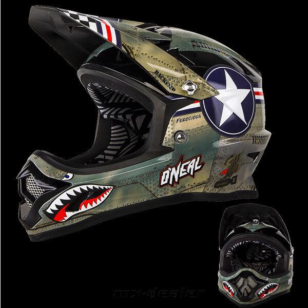 Oneal backflip bungarra negro DH BMX rl2 Mountainbike MTB casco gafas freeride