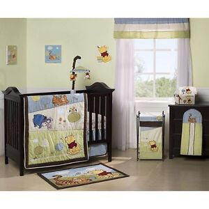 Winnie the Pooh crib set and accessories