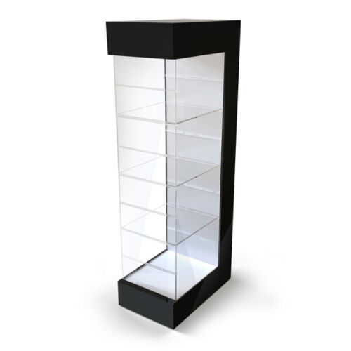 Product Display Case Organizer with Adjustable Shelves