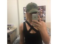 Top shop army print hat