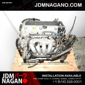 Honda Accord,CRV, Element,TSX 02-07 Engine K24A Vtec 2.4L Moteur