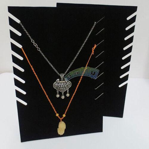 "9/"" Black Velvet Necklace Holder Display Stand Bust Easel Jewelry Presentation"