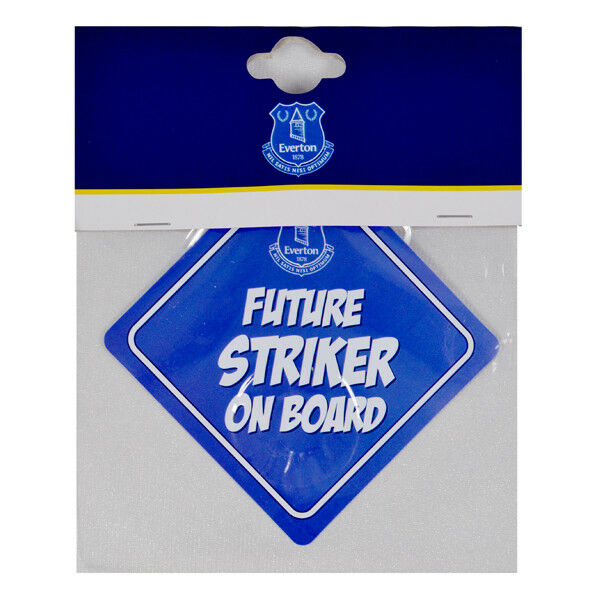 Everton FC Official Football Kit Baby On Board Car Window Sign