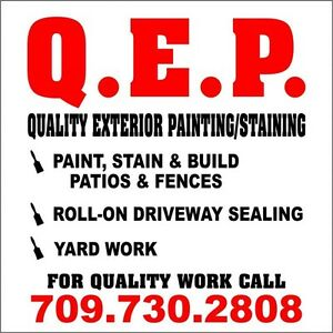 QUALITY EXTERIOR PAINTING/STAINING