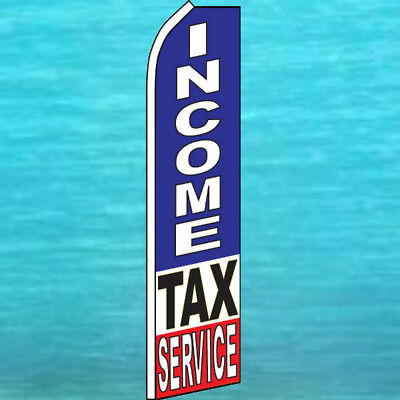 Income Tax Service Flutter Flag Tall Curved Advertising Feather Swooper Banner