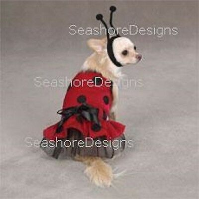 X Small Dog Halloween Costumes (Casual Canine - Lady Bug - Halloween Dog Costume X-SMALL Pup Puppy Clothes)