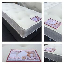 """💜 LUXURY BALMORAL KINGSIZE MATTRESSES - 11"""" INCH DEEP MEMORY FOAM & SPRUNG - DELIVERY ANYTIME"""