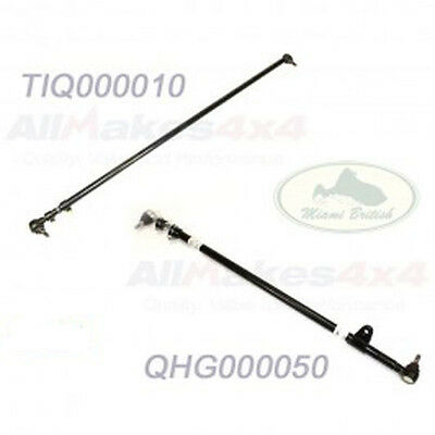 LAND ROVER STEERING DRAG LINK & TRACK TIE ROD END BAR SET x2 DISCOVERY ALLM4x4 4 X 4 Land Rover