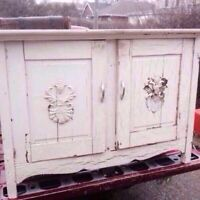 Antique Painted Cupboard For Restoration