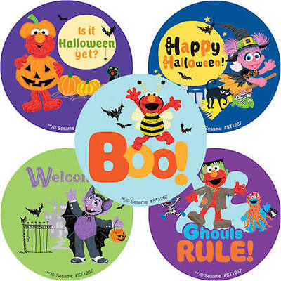 25 Sesame Street Halloween  Stickers Party Favors Teacher Supply BOO! Elmo - Sesame Street Halloween