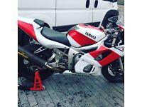 Yamaha R6 pre inj race bike track