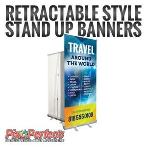 Roll Up Banners at www.pixoperfect.com - BEST PRICE IN TOWN with FREE SHIPPING!