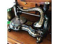 Antique Jones cast iron sewing machine