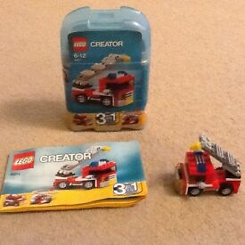 Lego Creator no 6911, 3 in 1 Fire Engine/Vehicle/Helicopter