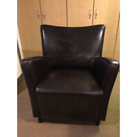 Urban Barn leather chair - excellent condition