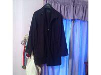 Large mens black Topman coat for sale
