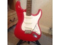 "Squire "" stratocaster"" electric guitar"