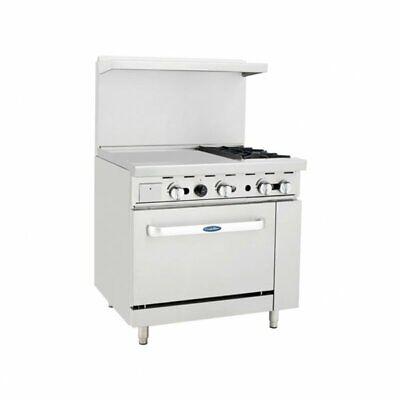 Atosa Usa Ato-24g2b 36 Gas Restaurant Range 1 Standard Oven 2 Open Bur...