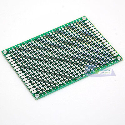 Double Side 5cm X 7cm Printed Circuit Board Blank Protoboard Pcb Tinned New