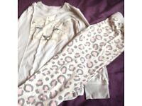 Girls leopard pyjamas 7-8 years