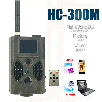 HC300M cámara de caza GSM 12MP 1080P foto trampas visión nocturna