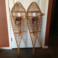 Pair of vintage snowshoes.