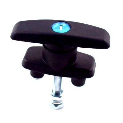 T Handle Latchlock Keyed Alike Black Coated For Cabinets Security Substantial
