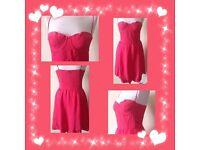 Women's peach pink dress size 10