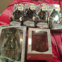 Final Fantasy and Assassin's Creed Figurines