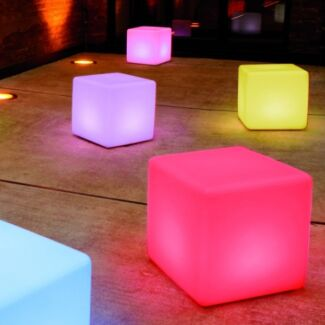 Illuminated Cube Bench Furniture