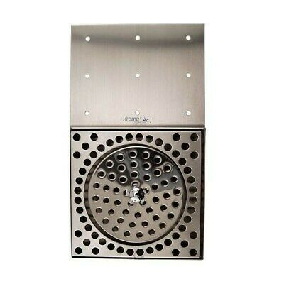Stainless Steel Drip Tray - Counter Mount With Glass Rinser And Drain