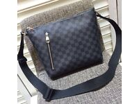 Classic Louis Vuitton black and grey monogram lv pick mm cross body unisex genuine designer
