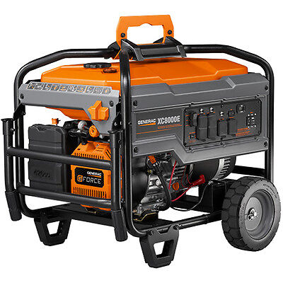 Generac Xc8000e - 8000 Watt Electric Start Professional Portable Generator 4...