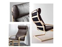 IKEA POANG leather chair cover