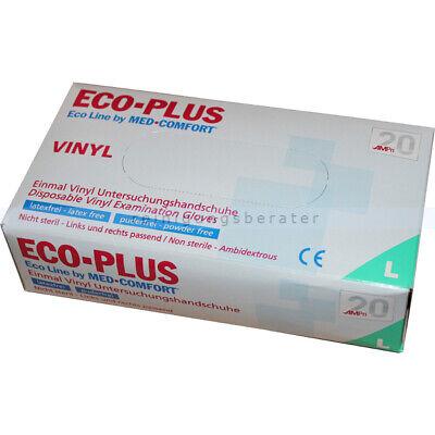 Einmalhandschuhe aus Vinyl Ampri Eco-Plus weiß L Einweghandschuhe Gummihandschuh