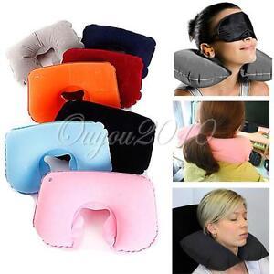 coussin voyage gonflable soutien nuque oreiller pillow avion train voiture multi ebay. Black Bedroom Furniture Sets. Home Design Ideas