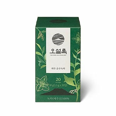 OSULLOC 20 Tea Bags Korean Jeju Island Pure Organic Green Tea PREMIUM ASIAN TEA