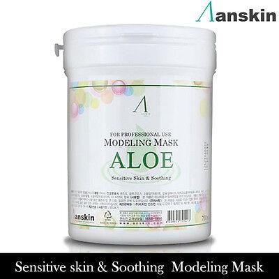 Anskin Modeling Powder Aloe Mask Pack 700ml Korea Cosmetics Original Smooth skin