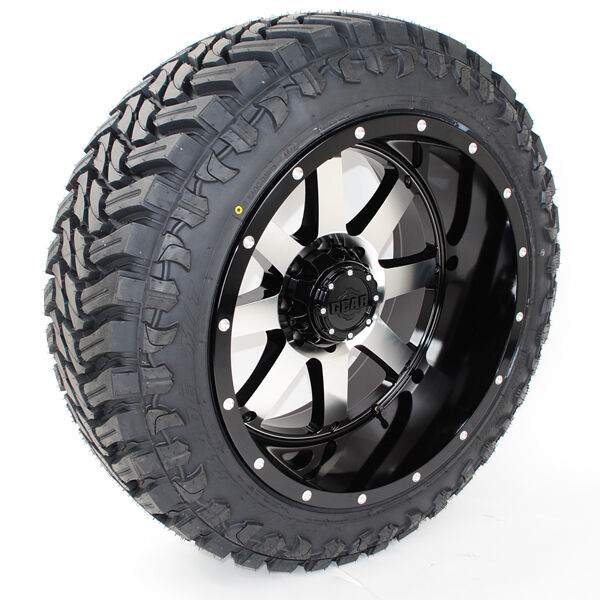 22x12 Gear Alloy 726m Atturo Trail Blade Mt 37x13.50r22 Wheels Tires
