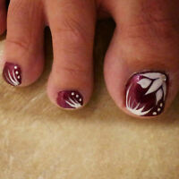 Beautiful Hand-Painted Toe Nail Art! ONLY $20!!!