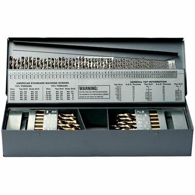 Ttc A3789-smco 3-in-1 115 Pc Cobalt Rh Screw Machine Stub Drill Set