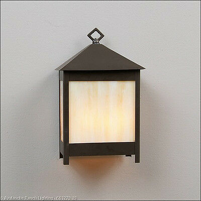 Mission Style Wall - Large Mission style Wall Sconce 2 Light Mission 60 Watts in Dark Bronze C53279