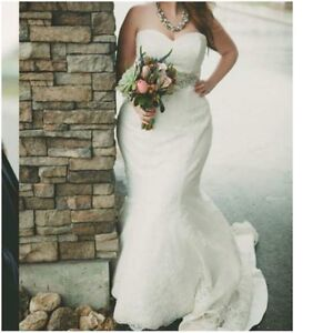 PRICE REDUCED! Ivory/off-white Fit and flare wedding dress
