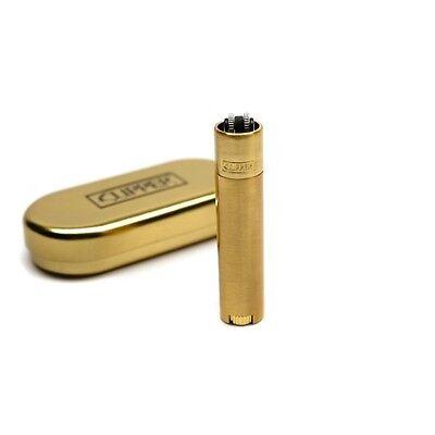 1 x Clipper Feuerzeug Feuerzeuge im Edel Design und verpackt in Box Gold