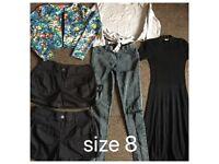 Size 8 bundle of clothes