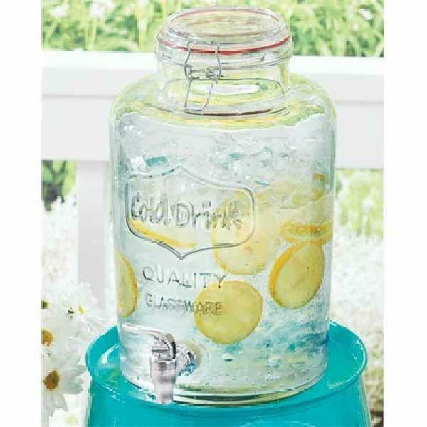 Better Homes & Gardens 2 Gallon Round Glass Beverage Dispens