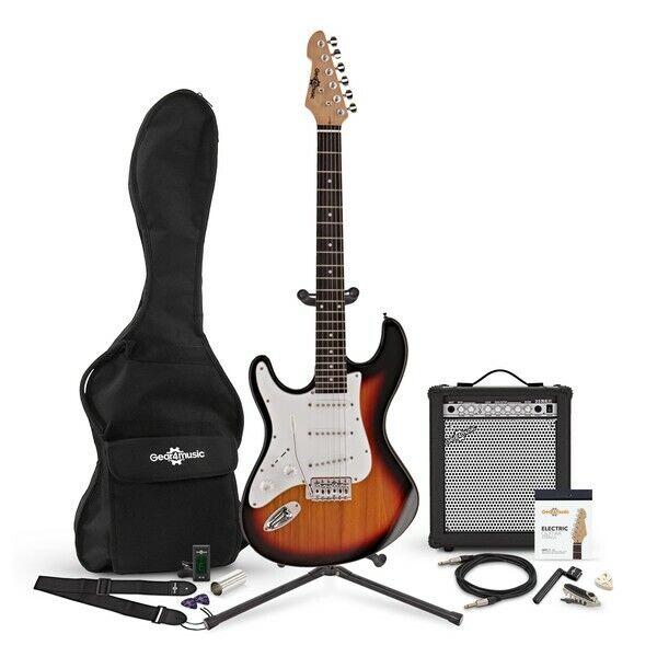 LA Left Handed Electric Guitar + 35W Complete Amp Pack Sunburst