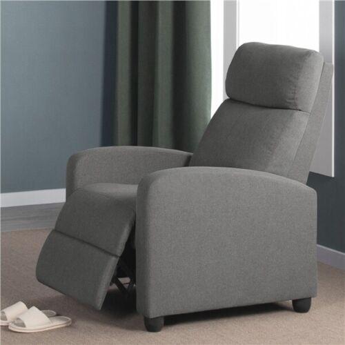 Fabric Recliner Chair Single Modern Sofa Home Theater Seatin